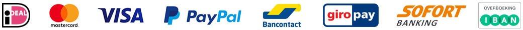 Betaalopties Ideal Creditcard Paypal Bancontact Giropay Sofortbanking Overboeking