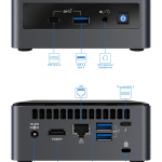 Intel NUC10i7FNH Linux Mini Connections