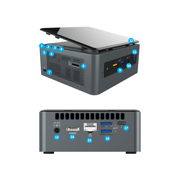 Intel Nuc8i7beh Core I7 04